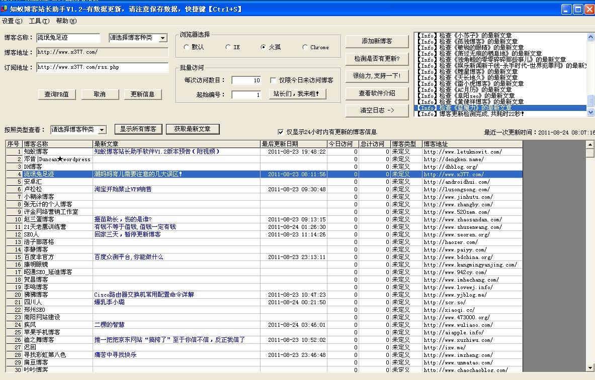 知蚁博客站长助手V1.2版强势推出!